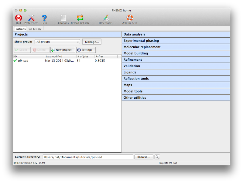 The phenix graphical interface